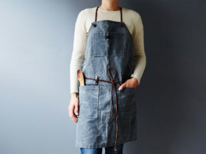 oil and wax canvas apron
